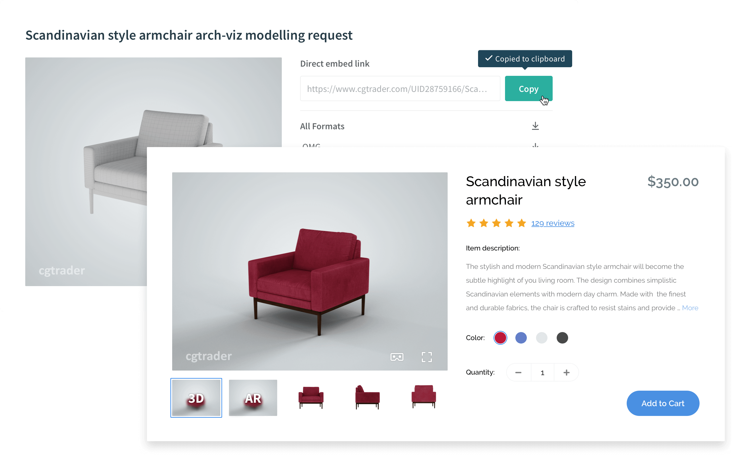 3D Visualization for e-Commerce